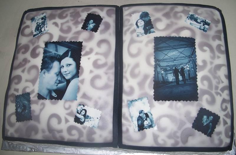 Photo Album Edible Photo Cake