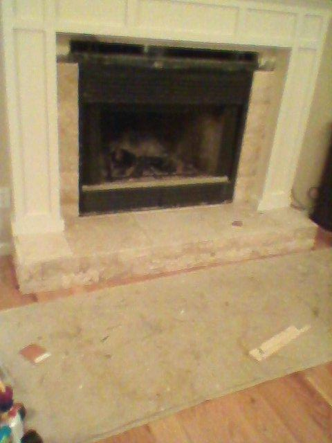 Fireplace face lift