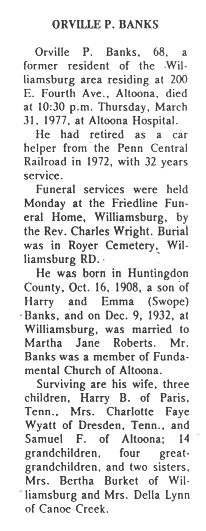 Banks, Orville P. 1977