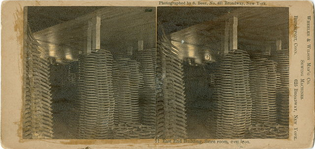 Stereocard of Sewing Machine Wheels
