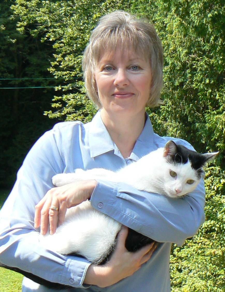 Eddie the Reiki cat and Susan
