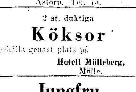 Hotell Molleberg 1929