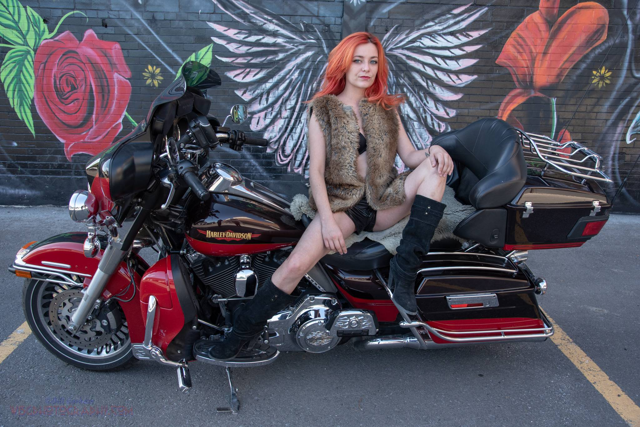 Arielle and my Harley
