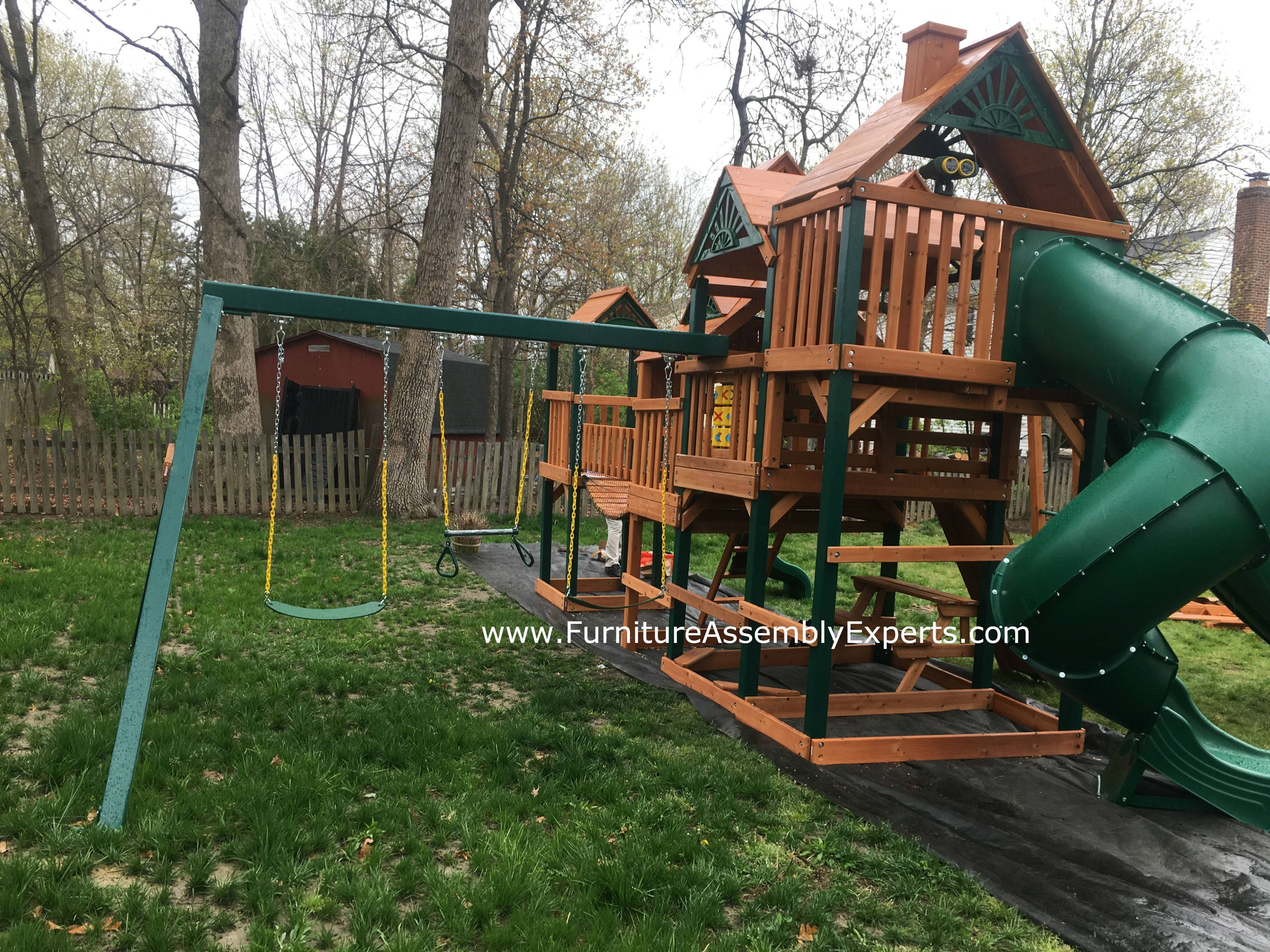 Gorilla empire extreme playset installation in leesburg Virginia