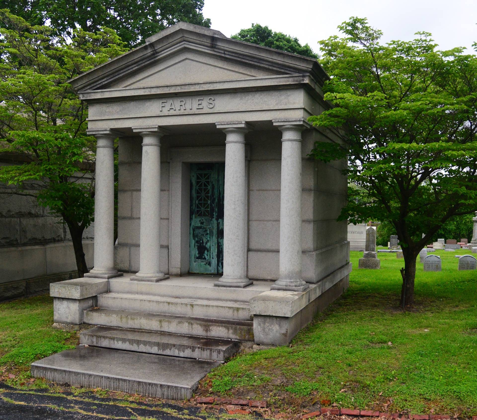 Faries Mausoleum at Greenwood Cemetery