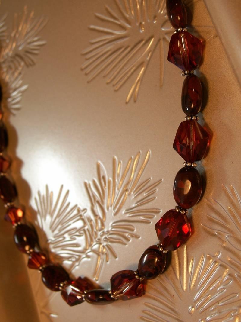 Red Magma Swarovski Crystal and Agate