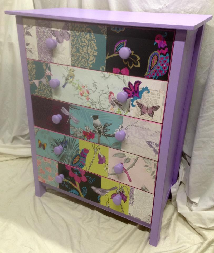 Gorgeous lilac drawers