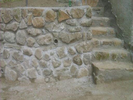 mur de soutenement avec escalier