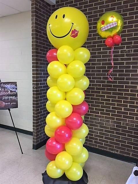Emoji Balloon Column