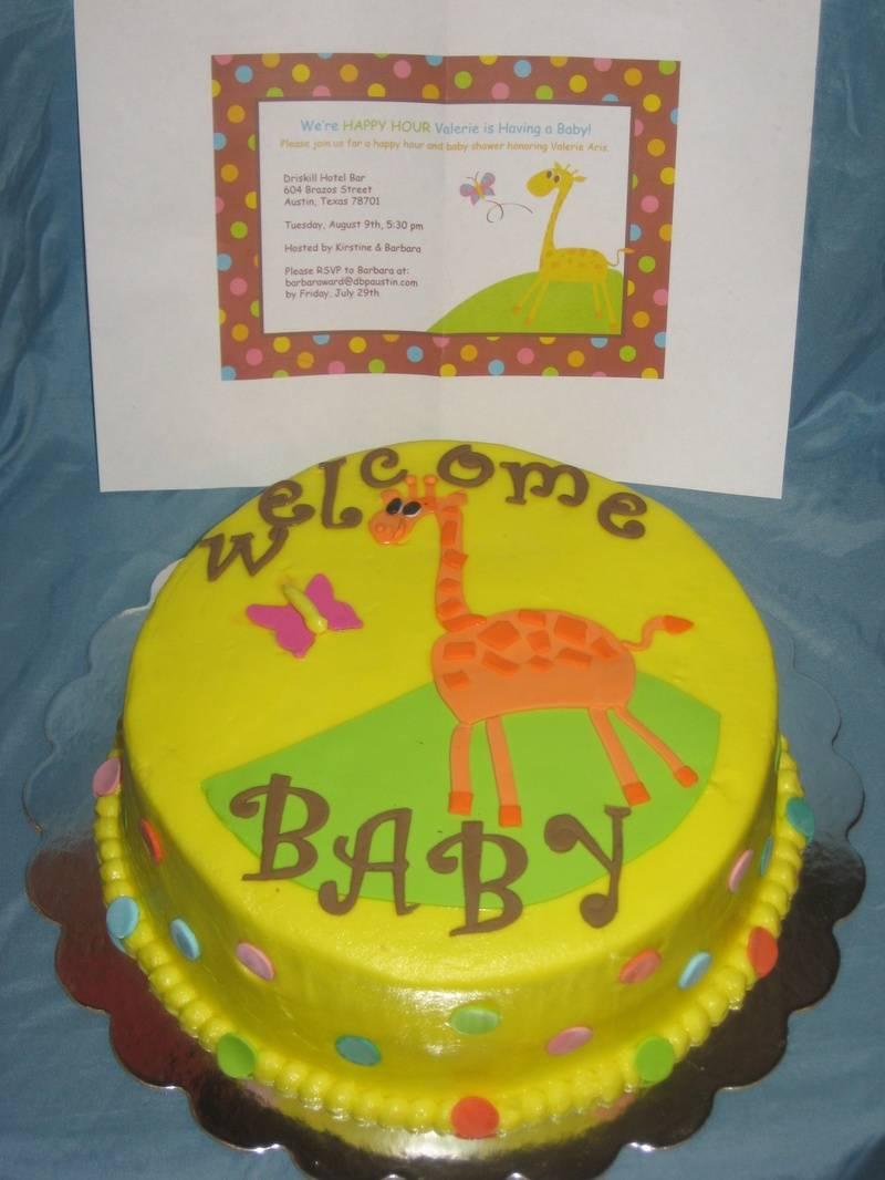 MTM Baby Shower Cake