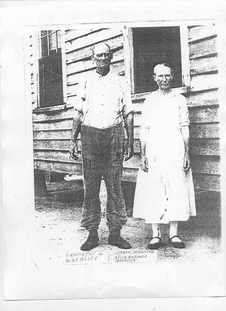 Lyndon Manning and Alice Respass Manning
