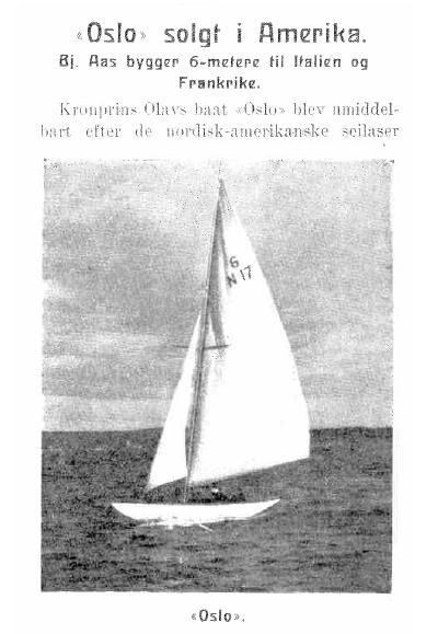 Olso Sold in America - 1925