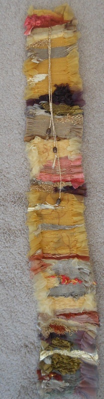 small pleated wall hanging