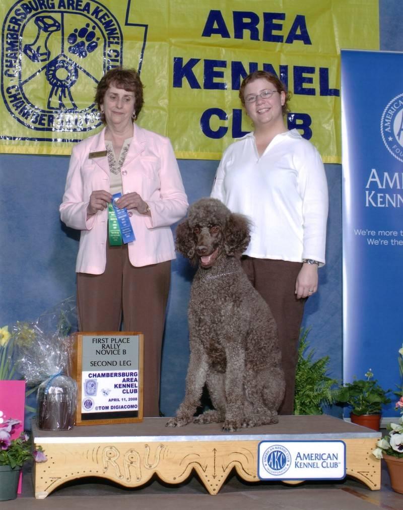 Penny winning Rally Novie B first place.  4/11/08.