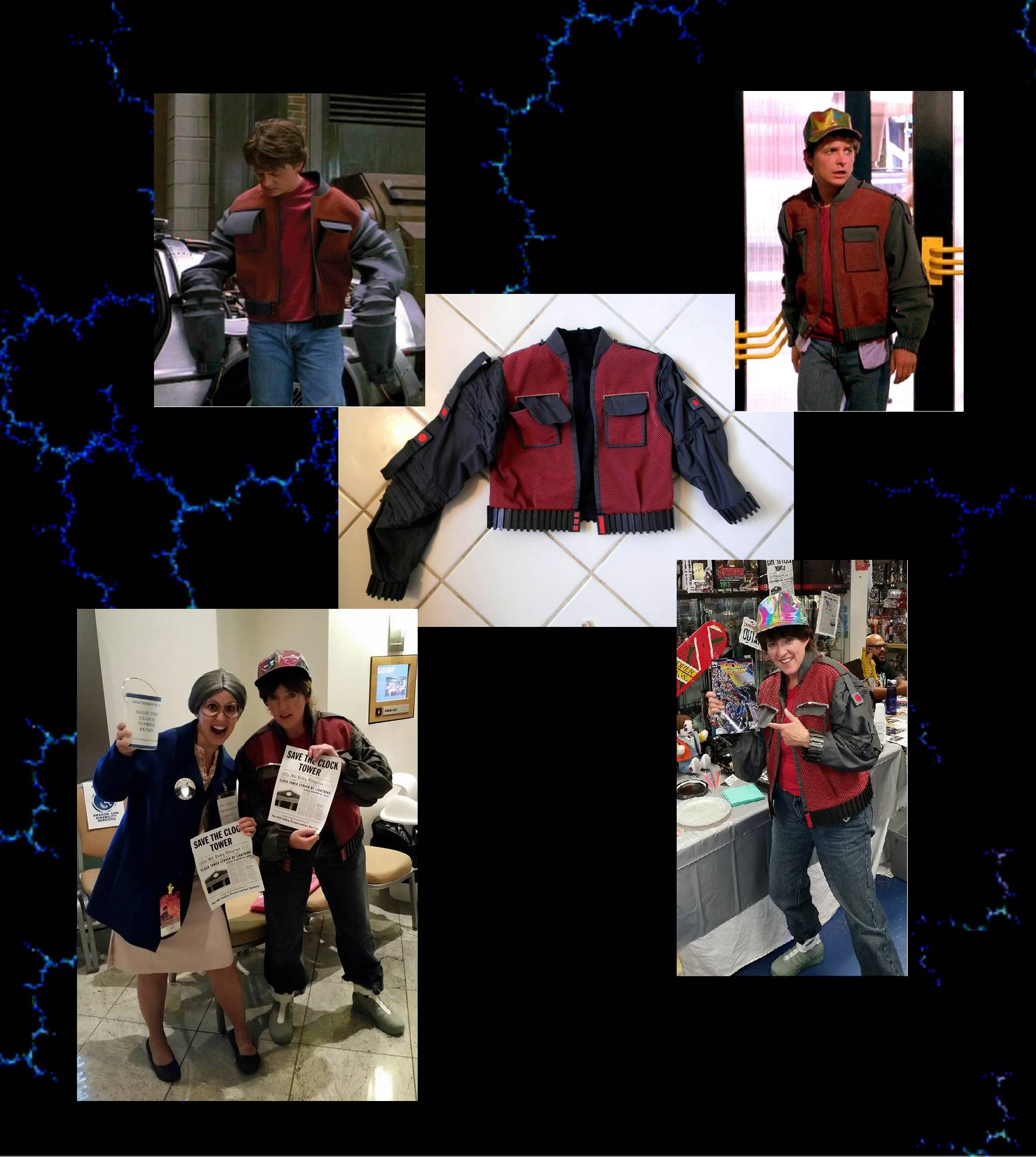 """Recreaton of jacket from """"Back to the Future II"""""""
