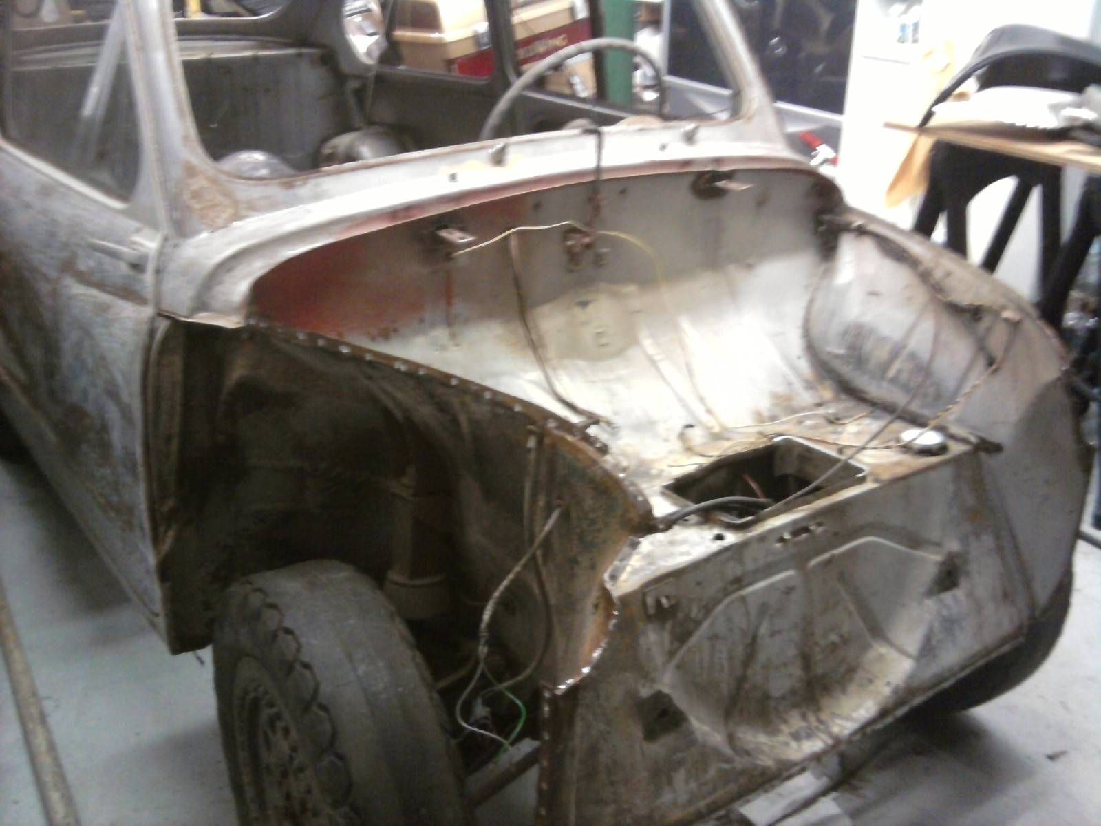 Fenders and Facia panel removed