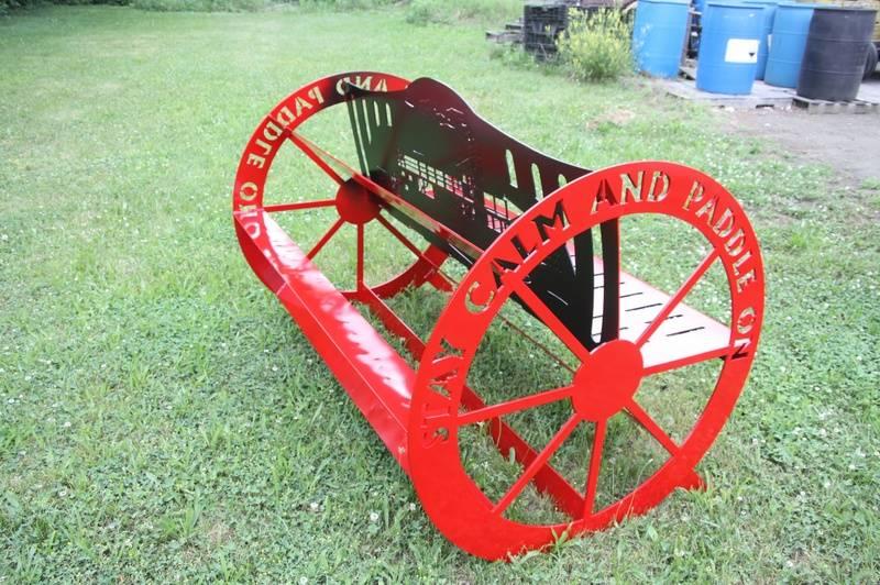 Back of Paddle Wheel Bench