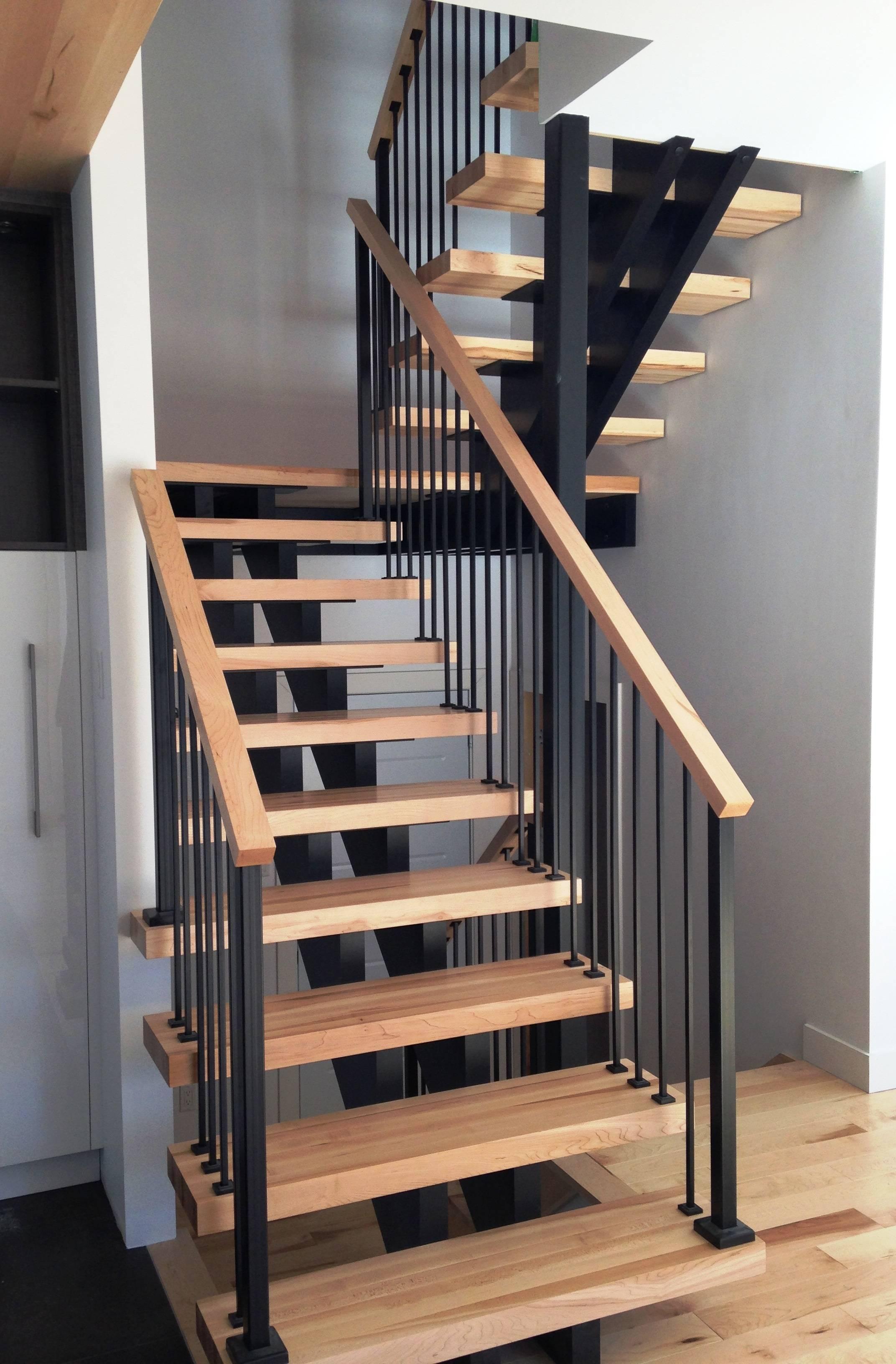 Escalier de bois double limons de bois