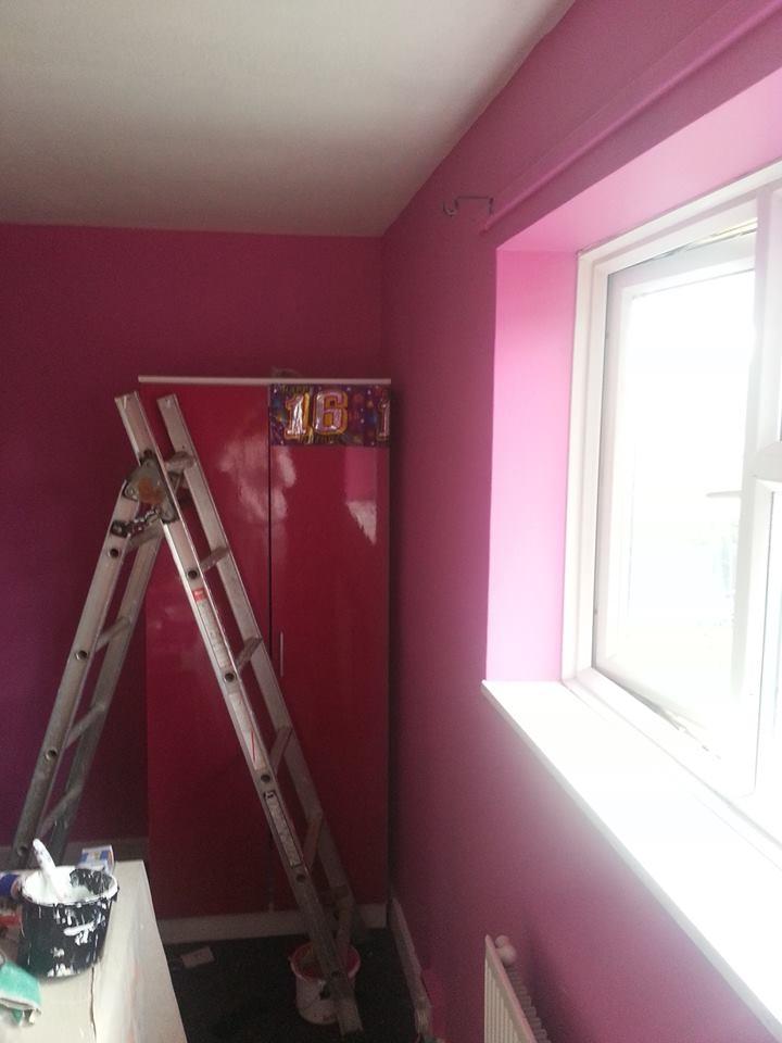 sexy pink bedroom. location stevenage