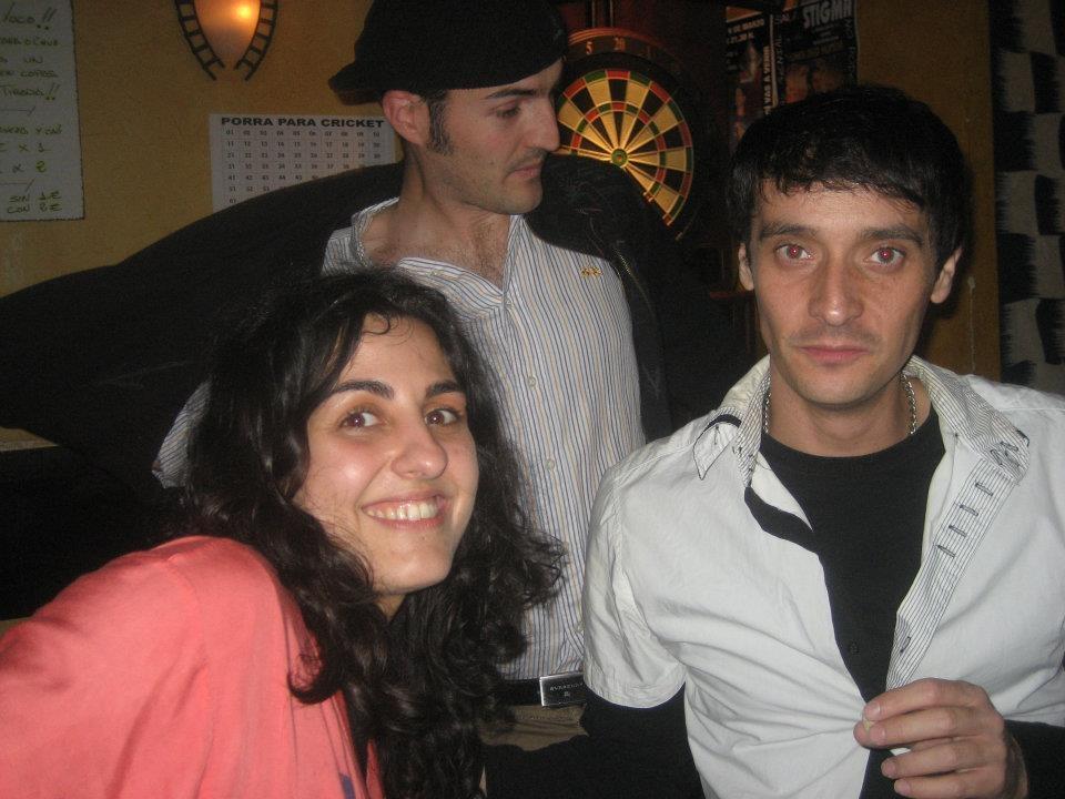 EN sala stigma con mi amigo y hermano Gustavo biosca