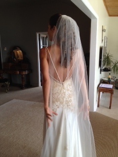 Wedding gown back view