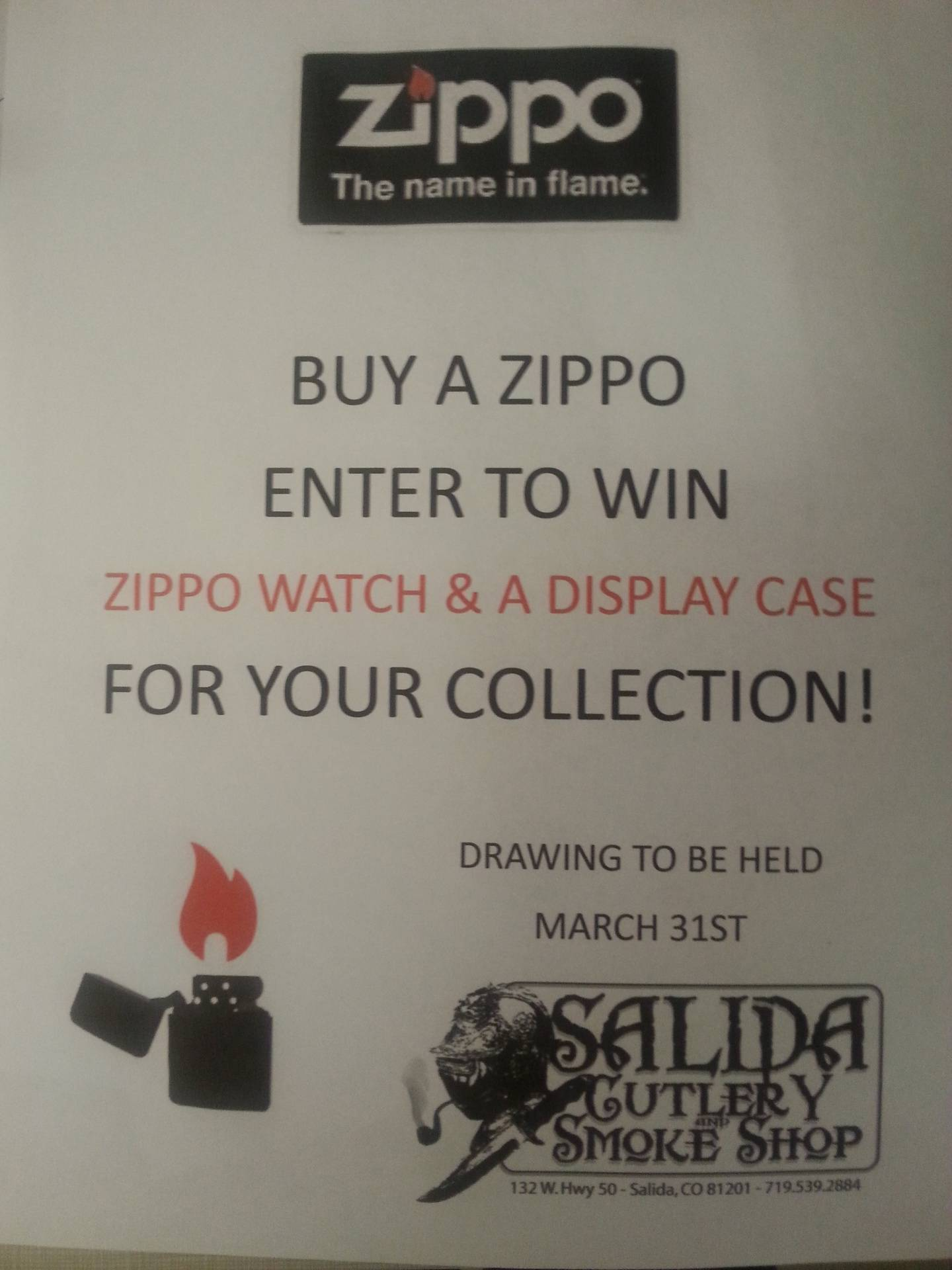 Buy a Zippo in March for a chance to win!