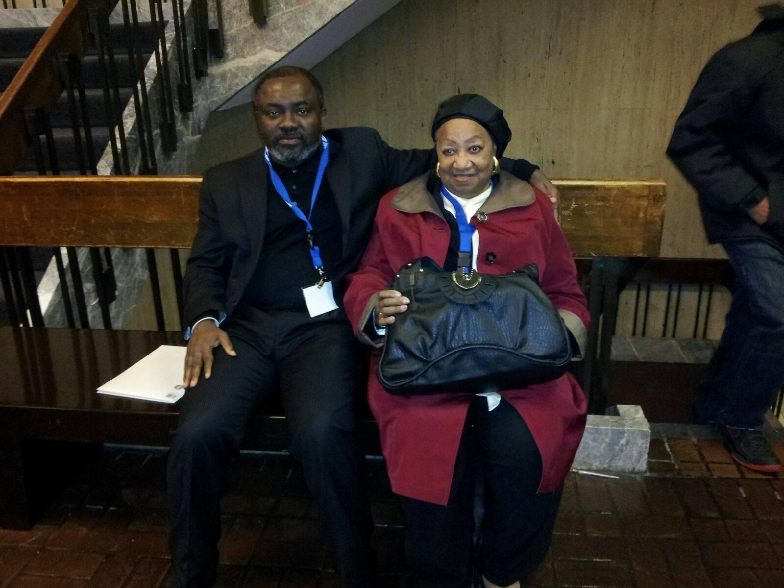 Dr. Gnaka and Secretary