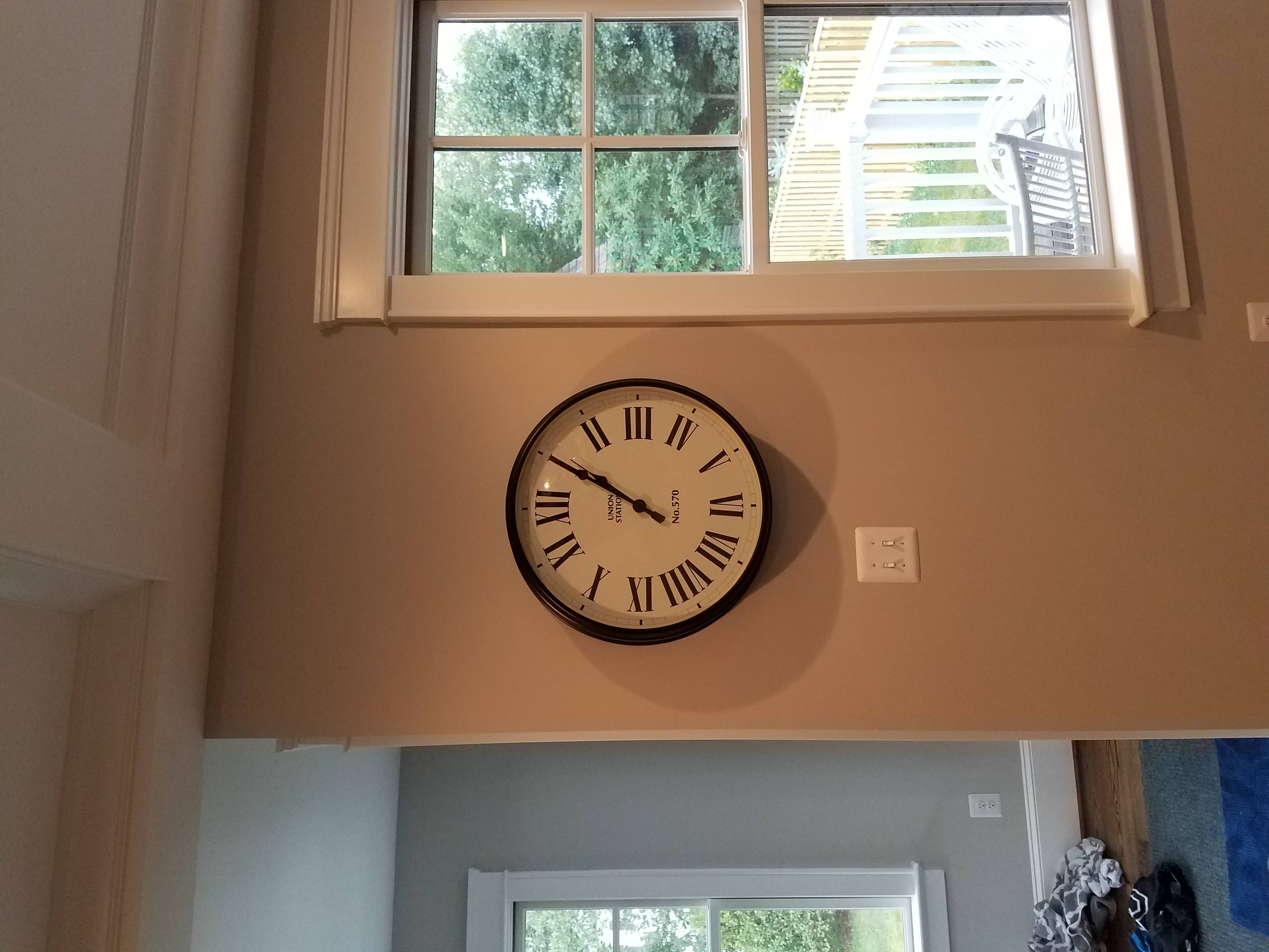 clocl hanging installation in chevy chase MD