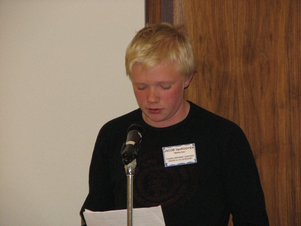 Jacob reading his story