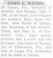 Watson, Doris 1981
