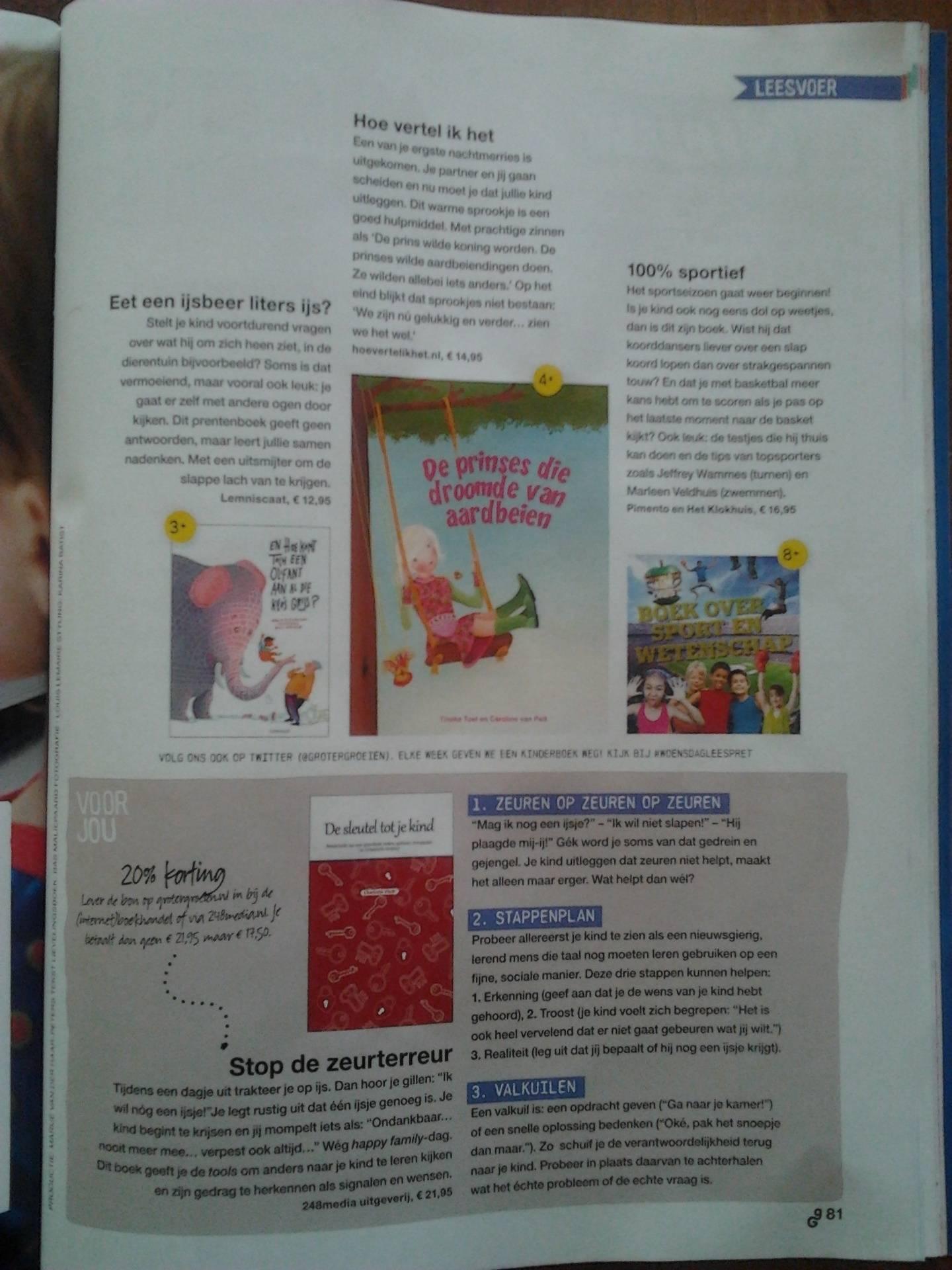 Artikel in het maandblad 'Groter Groeien'.