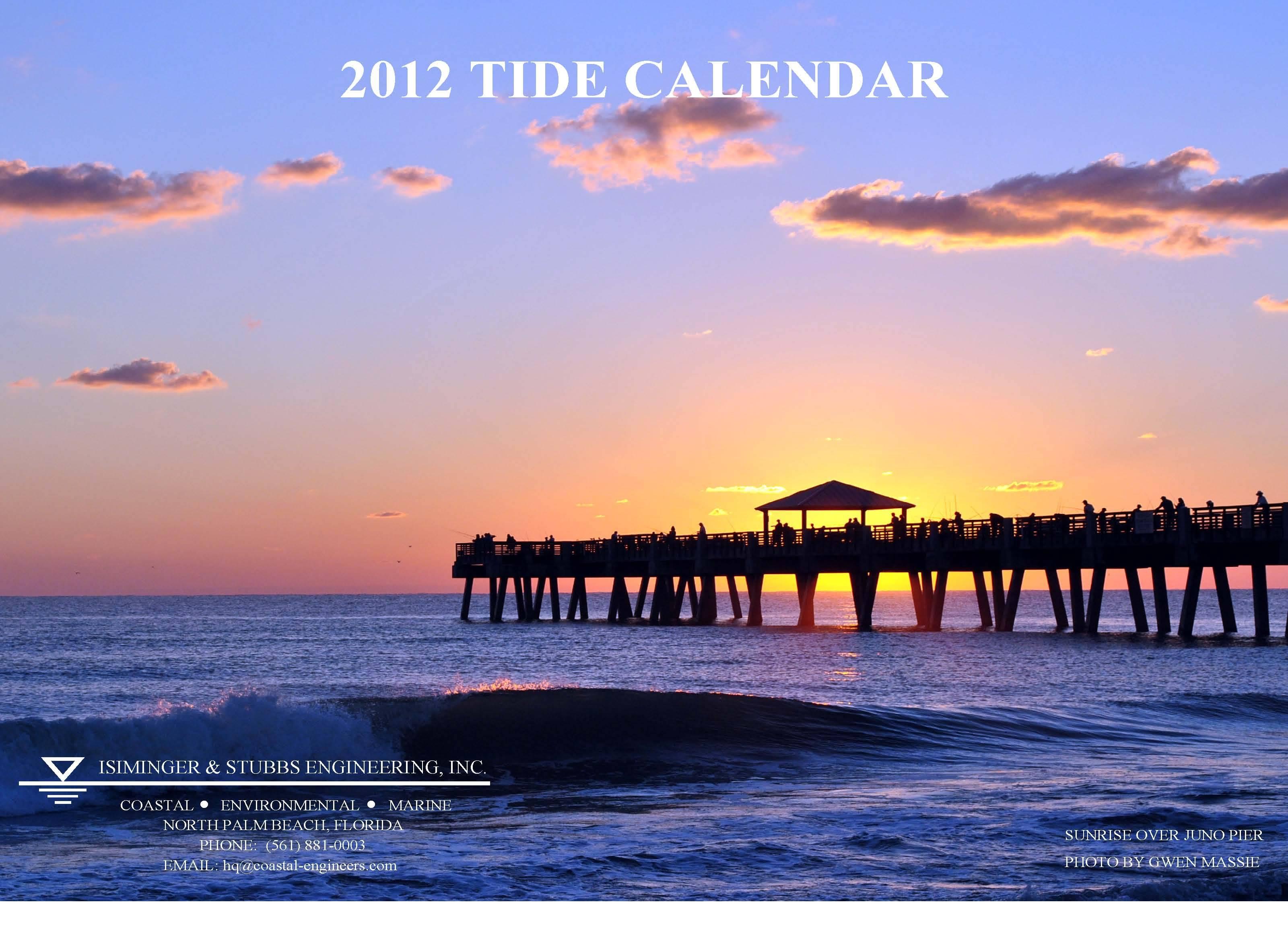 2012 Tide Calendar Cover