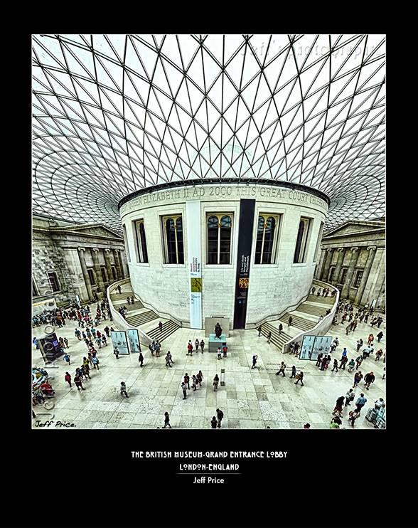 The British Museum-Grand Entrance lobby, London, England