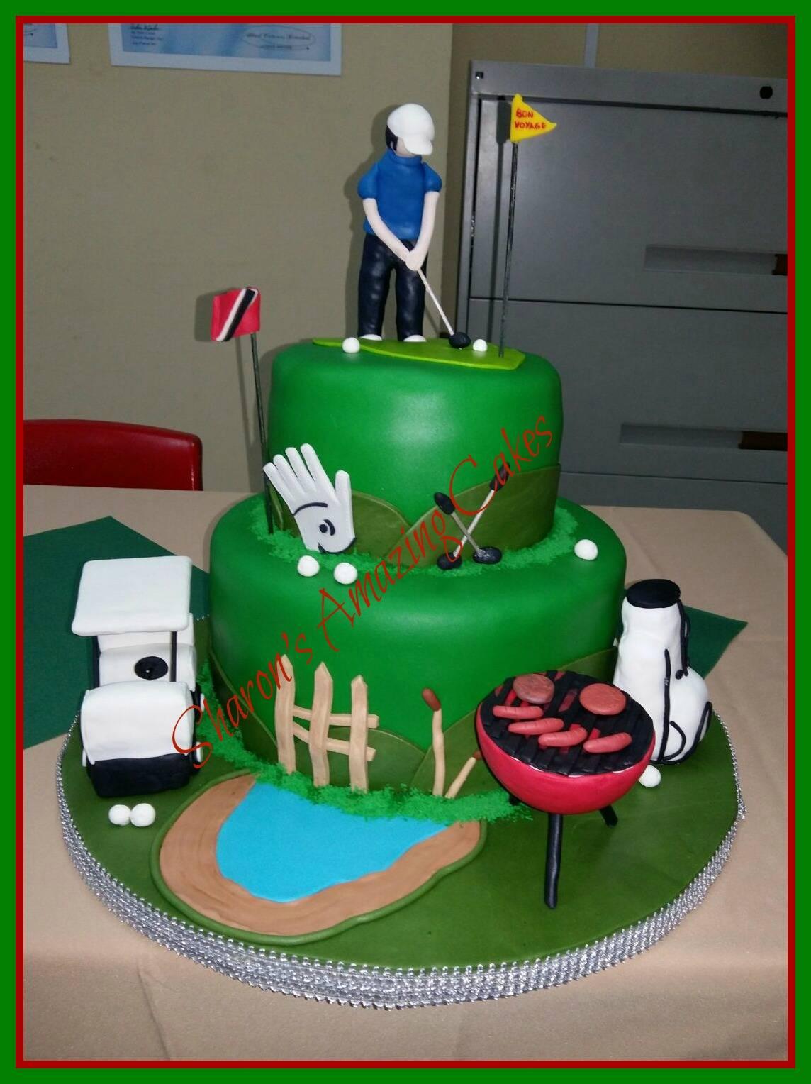 CAKE 30G - Golfer Cake