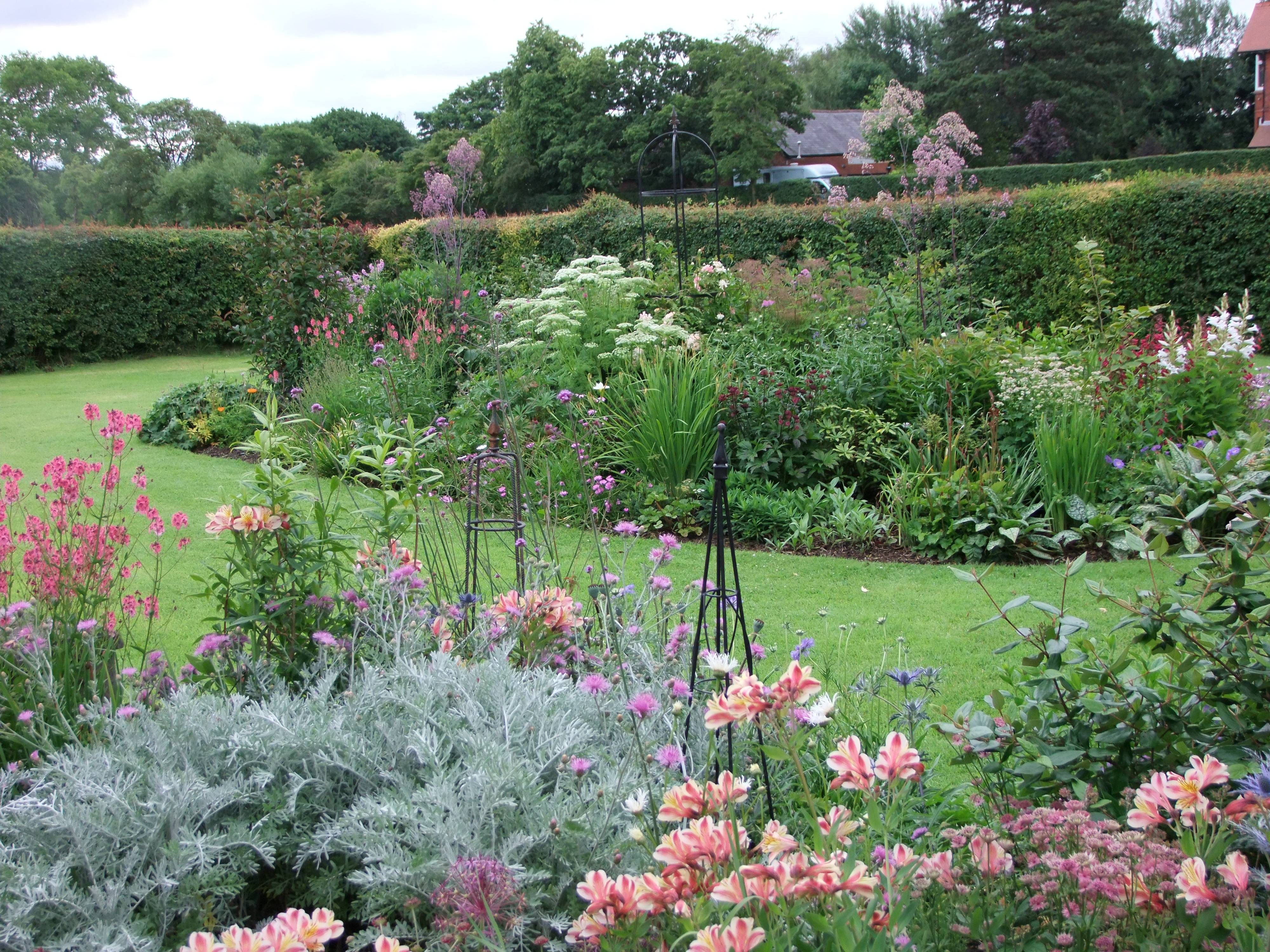 The summer borders at Meadow View