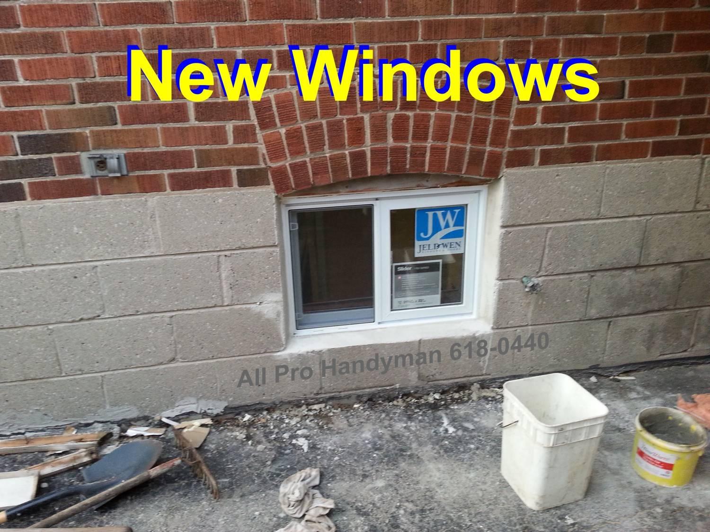 Five new windows installed