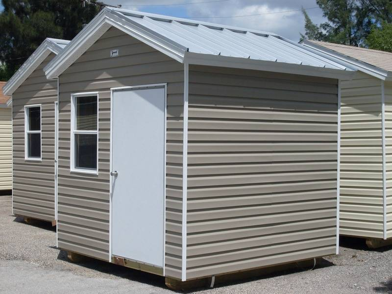 8x8 Galvalume roof