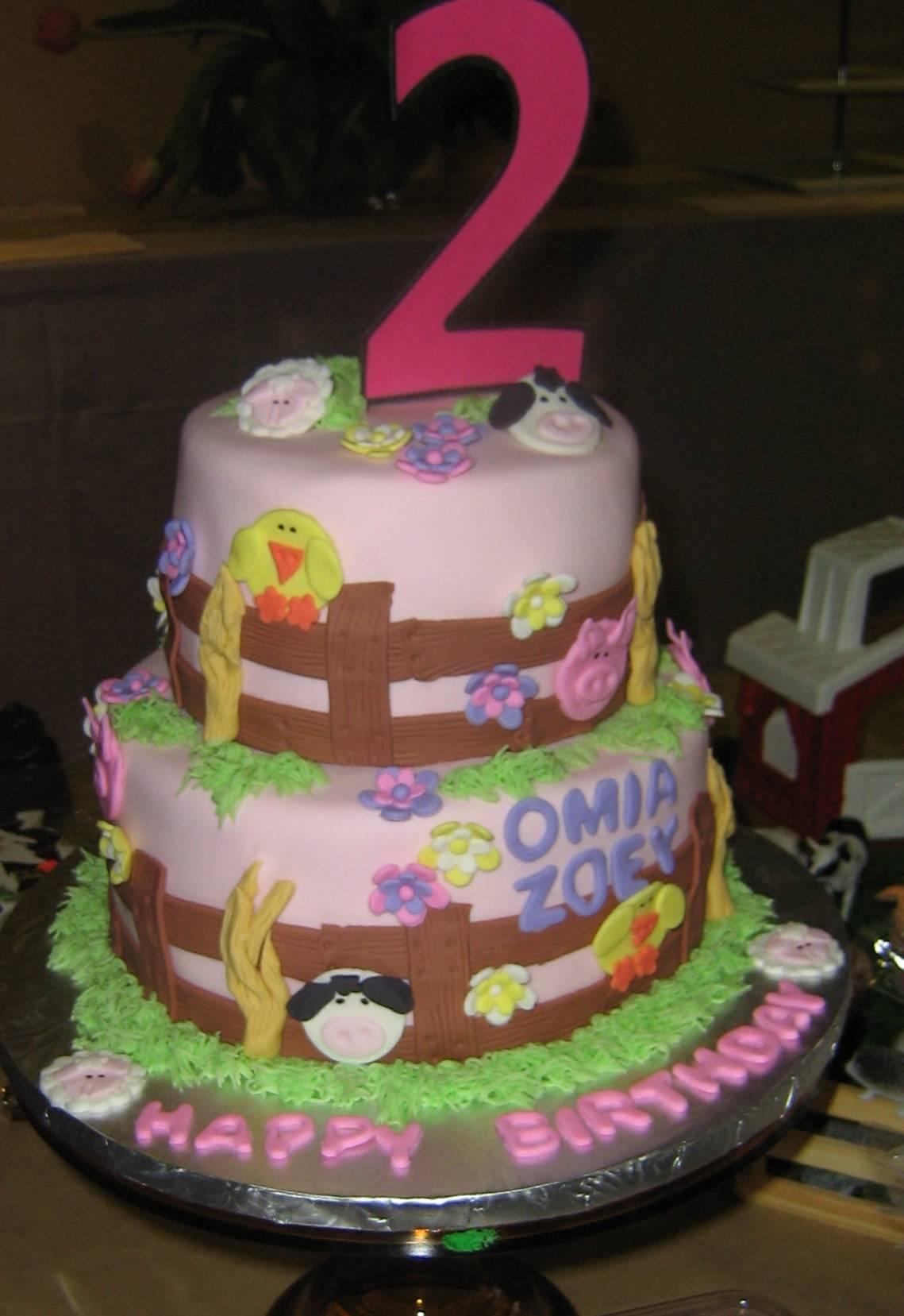 Farm Friends Cake