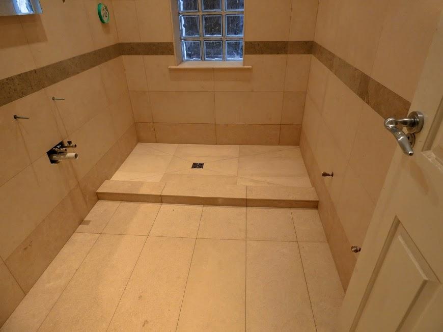Limestone wetroom