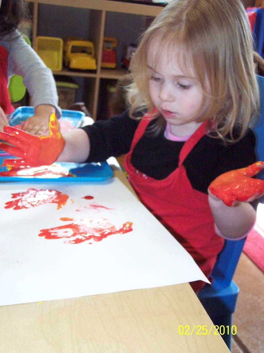 Orange Hand Painting