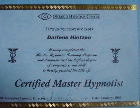Certified Master Hypnotherapist
