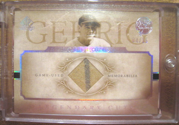 Lou Gehrig 2005 Upper Deck Legendary Cuts Game Used Pants Cards