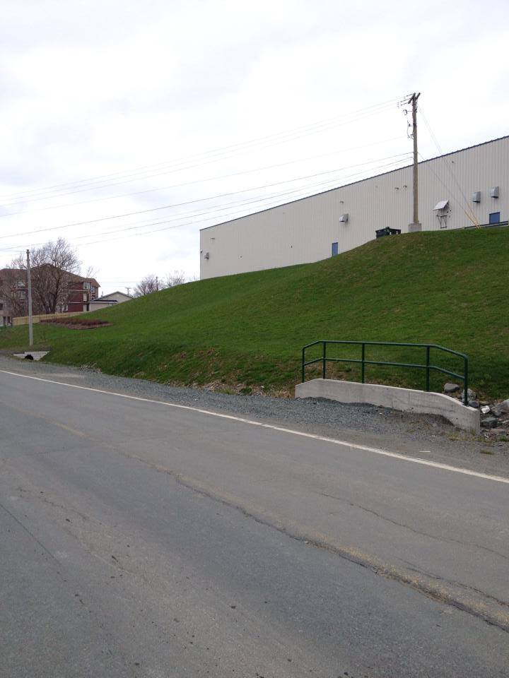 Results of Erosion control at Hutton Building