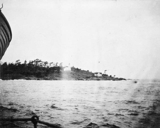 Discovery Island Light station in 1892.