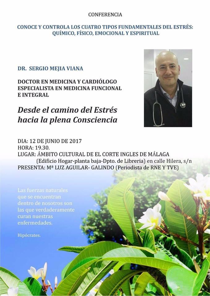 Invitación charla Estrés. Málaga.