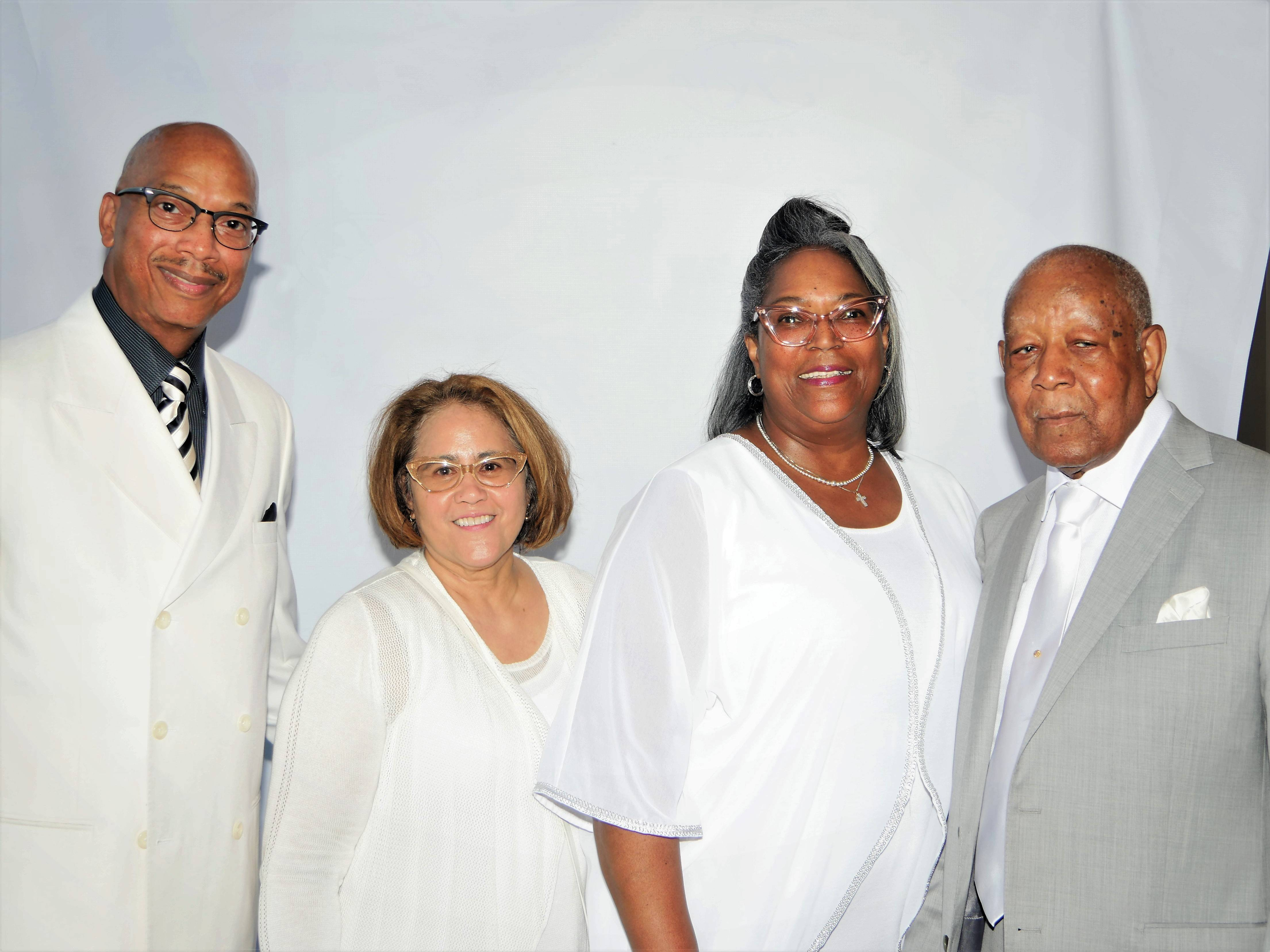 Honoree with close family