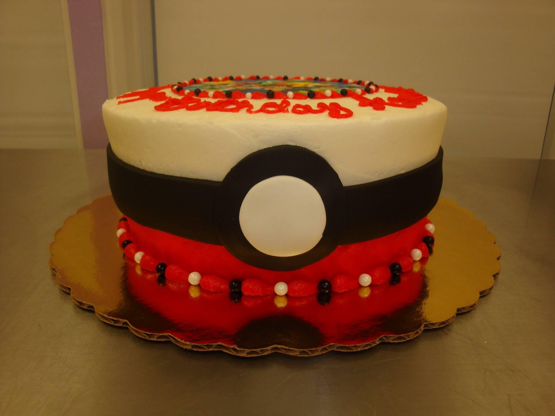 15 serving poke ball photo decal cake $75