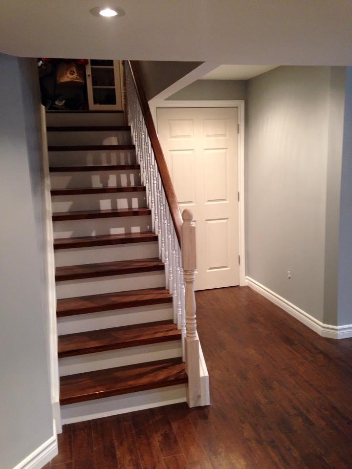 Staircase laminate installation
