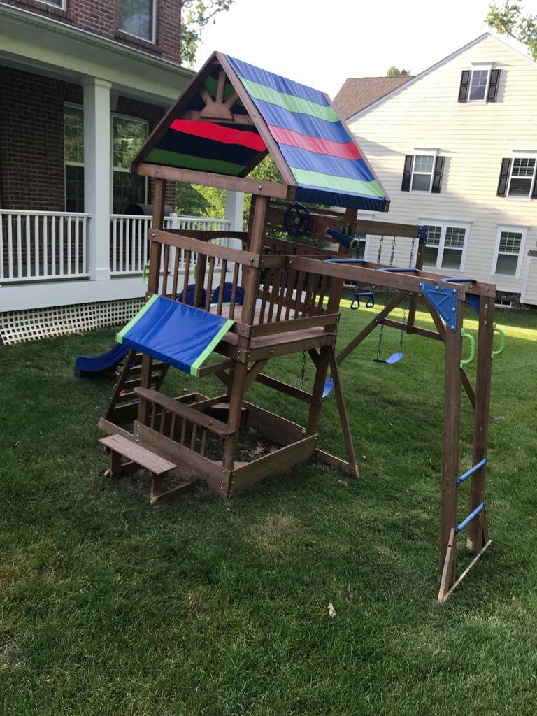 swing set installers in pasadena MD