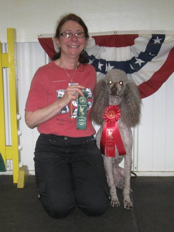Amber winning second place in CDSP Open and earning her second CDX-C leg.  6/19/11.